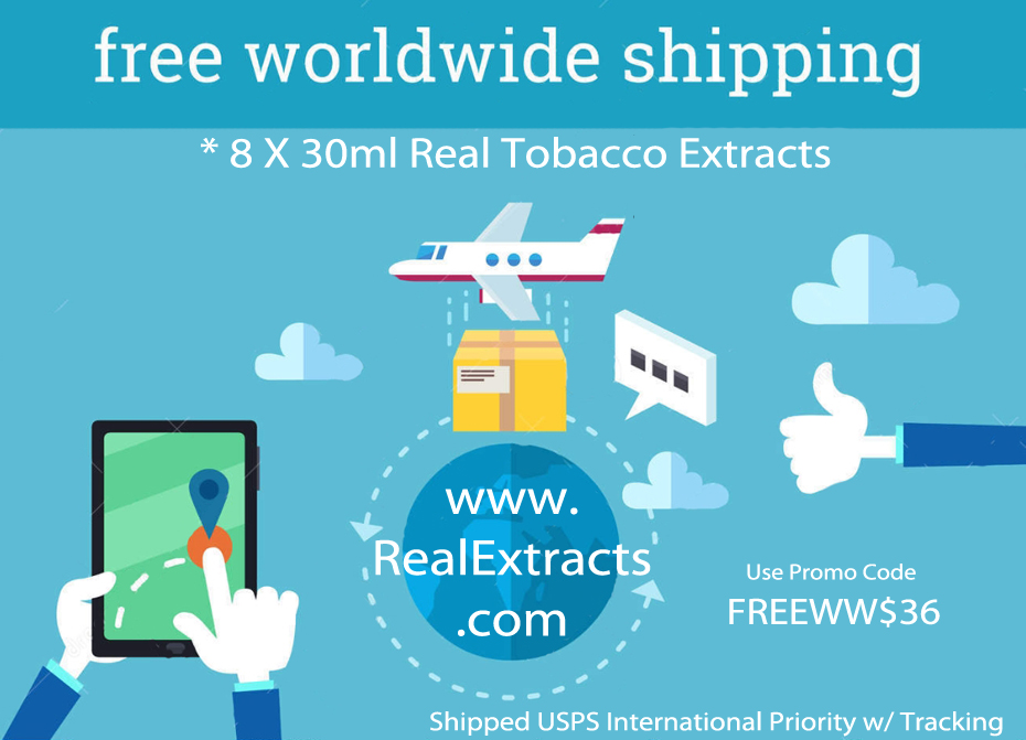2Free Intnl Shipping Real Tobacco Extracts