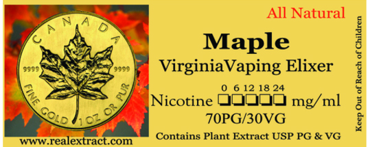 Maple & Virginia Leaf Banner